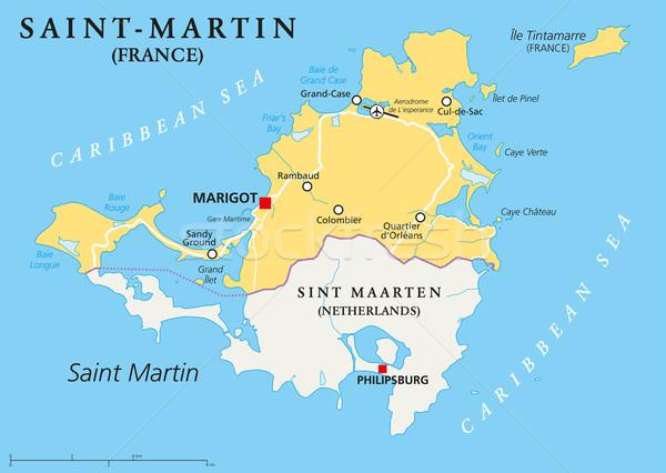 ストックフォト: 国 · 政治的 · 地図 · 北方 · カリビアン · 島