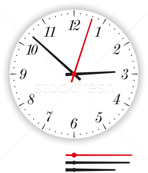 Clock Face Modern Stock photo © PeterHermesFurian