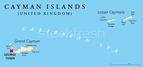 Cayman Islands Political Map Stock photo © PeterHermesFurian