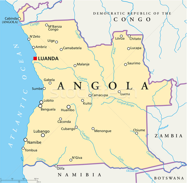 アンゴラ 政治的 地図 重要 都市 ストックフォト © PeterHermesFurian