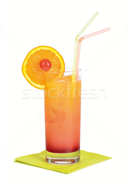 Stock photo: Tequila Sunrise Cocktail