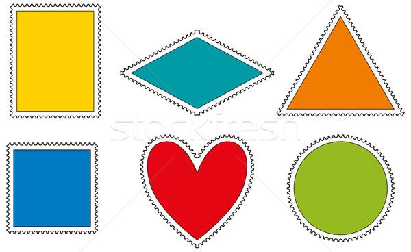 Stok fotoğraf: Pulları · şablon · şablonları · biçim · dikdörtgen · üçgen