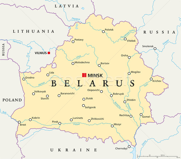 Belarus Political Map Stock photo © PeterHermesFurian