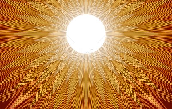 Nap sugarak arany citromsárga fény ki Stock fotó © PeterHermesFurian