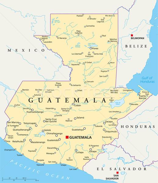Guatemala Political Map Stock photo © PeterHermesFurian