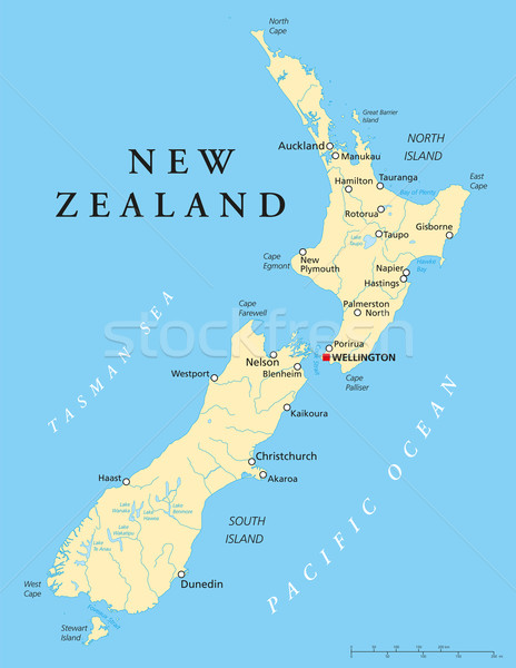 New Zealand Political Map Stock photo © PeterHermesFurian