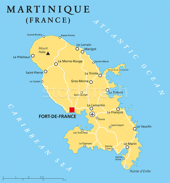 Martinique Political Map Stock photo © PeterHermesFurian