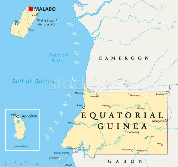 Equatorial Guinea Political Map Stock photo © PeterHermesFurian