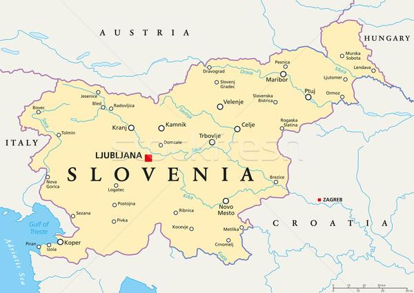 szlovénia térkép Szlovénia · politikai · térkép · keretek · fontos · városok  szlovénia térkép