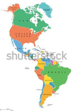 South America Political Map Stock photo © PeterHermesFurian