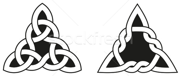Two Celtic Triangle Knots Stock photo © PeterHermesFurian