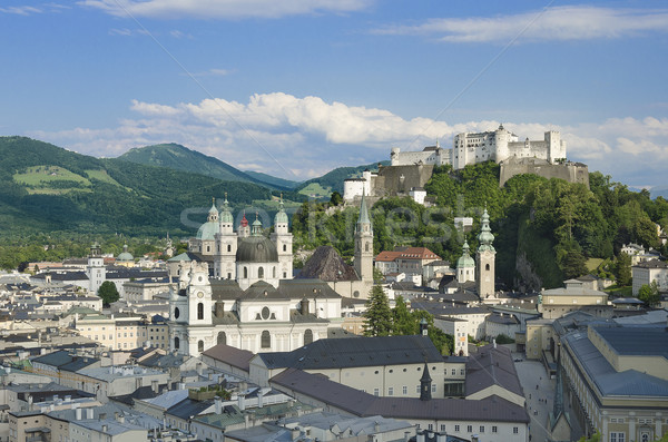Salzburg City Historic Center With Cathedral Stock photo © PeterHermesFurian