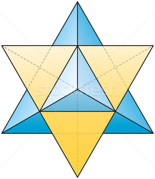星 することができます 3D 白 ボディ 青 ストックフォト © PeterHermesFurian
