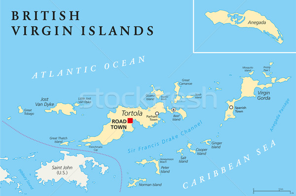 British Virgin Islands Political Map Stock photo © PeterHermesFurian