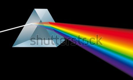 Triangular Prism Breaks Light Into Spectral Colors Stock photo © PeterHermesFurian
