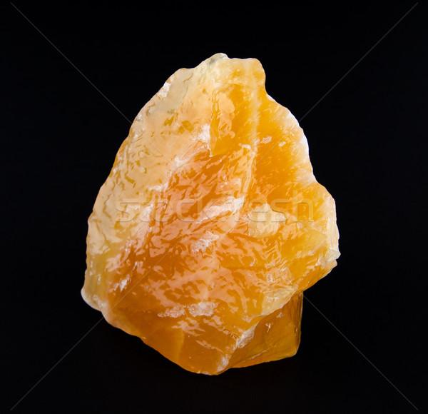 желтый оранжевый Кальцит Мексика черный минеральный Сток-фото © PeterHermesFurian