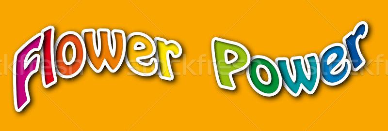 フラワーパワー パーティ ディスコ 青 エネルギー 電源 ストックフォト © PeterHermesFurian