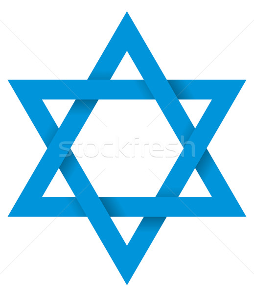 Blue Hexagram 3D Stock photo © PeterHermesFurian