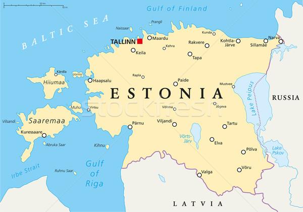 Estonia Political Map Stock photo © PeterHermesFurian