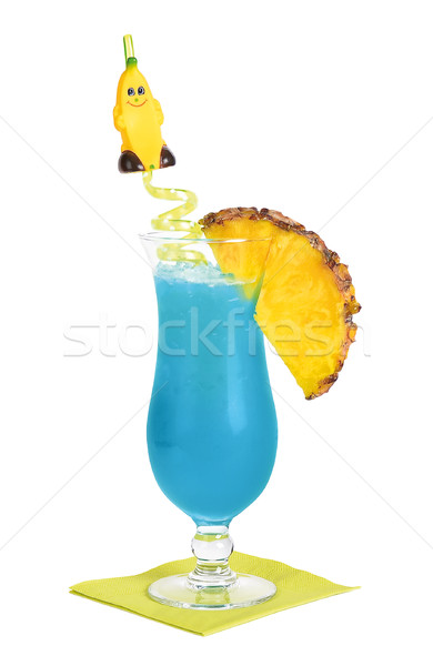 Stock photo: Blue Hawaii Cocktail