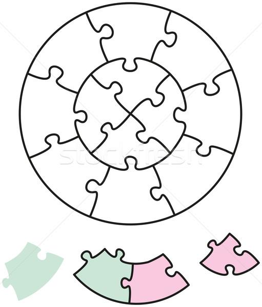 Jigsaw Puzzle Two Circles Stock photo © PeterHermesFurian