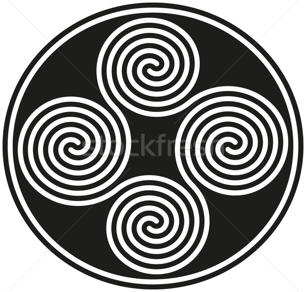 Connected Celtic Double Spirals Stock photo © PeterHermesFurian