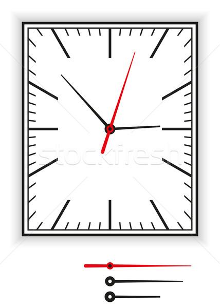 長方形の アナログ クロック 黒 赤 ストックフォト © PeterHermesFurian