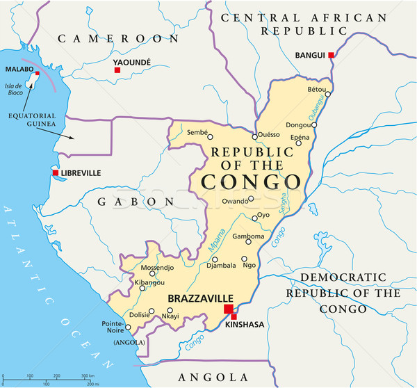 Republic of the Congo Political Map Stock photo © PeterHermesFurian