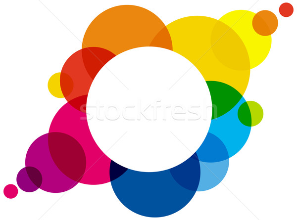 Rainbow Colored Bubbles Stock photo © PeterHermesFurian