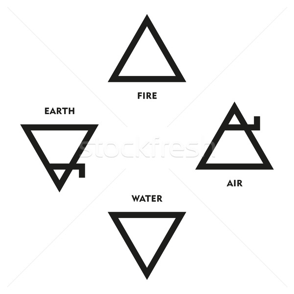 Classical Four Elements Symbols Of Medieval Alchemy Stock photo © PeterHermesFurian