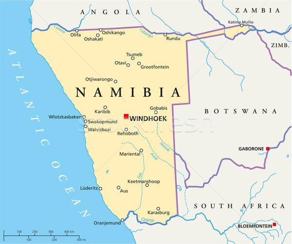 Намибия политический карта важный Сток-фото © PeterHermesFurian