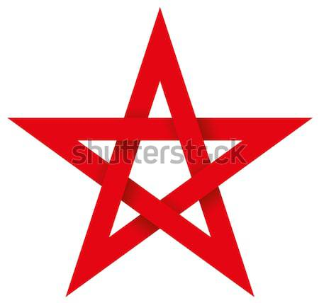 Red Unicursal Hexagram 3D Stock photo © PeterHermesFurian