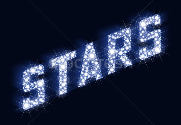 STARS Twinkling Lettering Made Of Stars Stock photo © PeterHermesFurian
