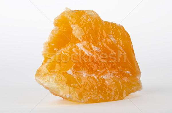 желтый оранжевый Кальцит Мексика белый минеральный Сток-фото © PeterHermesFurian