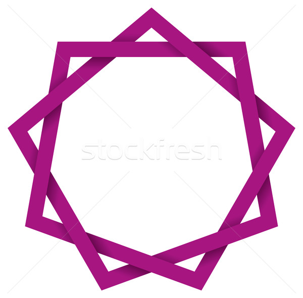 Purple Enneagram 3D Stock photo © PeterHermesFurian