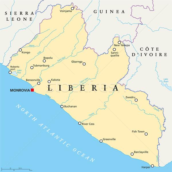 Liberia Political Map Stock photo © PeterHermesFurian