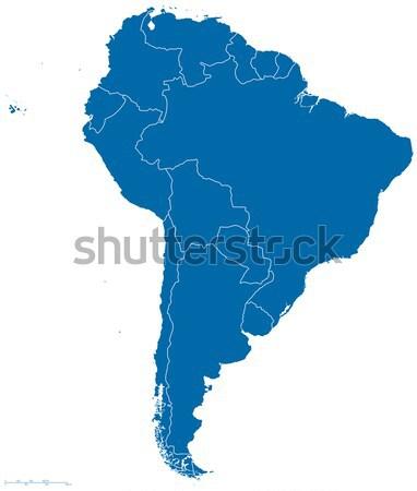 Dél-amerika térkép skicc politikai összes országok Stock fotó © PeterHermesFurian
