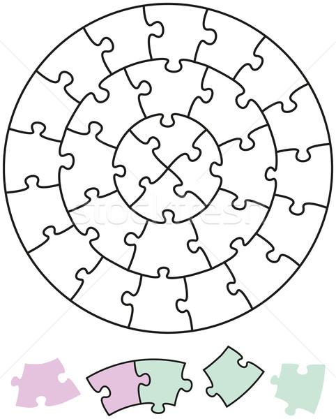 Jigsaw Puzzle Circles Stock photo © PeterHermesFurian