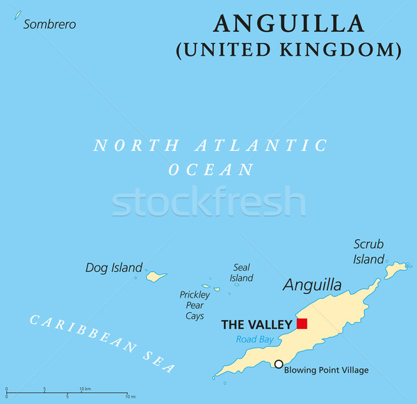 Anguilla Political Map Stock photo © PeterHermesFurian