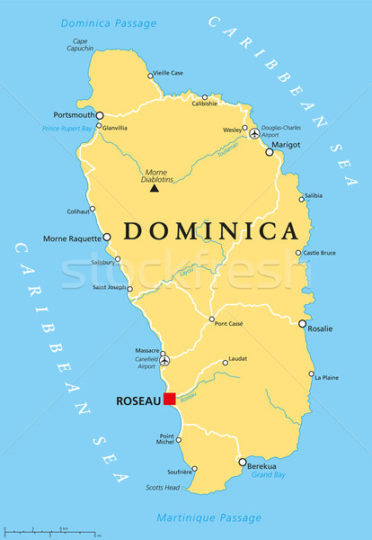 Dominica Political Map Stock photo © PeterHermesFurian