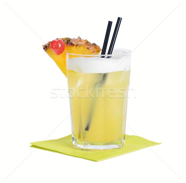 Stockfoto: Cocktail · rum · oranje · likeur · kalk · sap