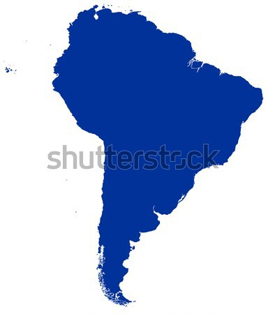 América del sur mapa silueta político azul ilustración Foto stock © PeterHermesFurian
