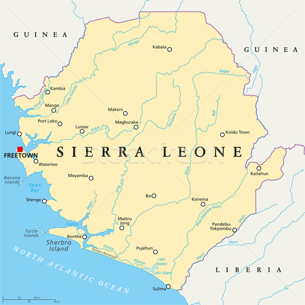 Sierra Leone Political Map Stock photo © PeterHermesFurian