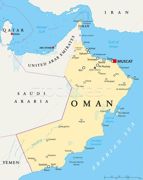 Оман политический карта важный Сток-фото © PeterHermesFurian