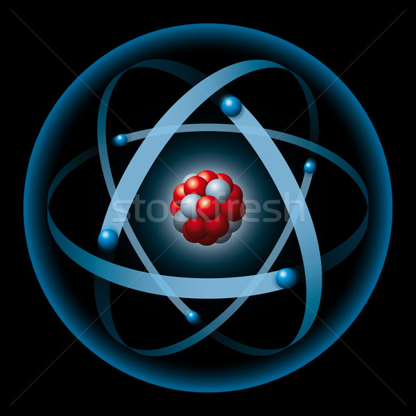 Atom Having Nucleus And Electrons Stock photo © PeterHermesFurian