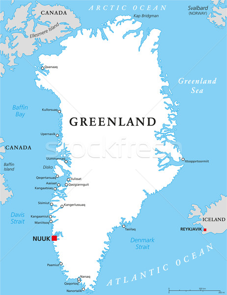 Greenland Political Map Stock photo © PeterHermesFurian
