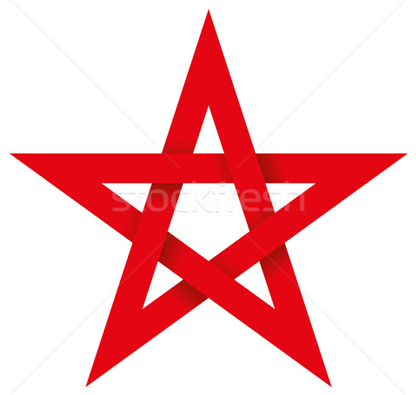 Red Pentagram 3D Stock photo © PeterHermesFurian
