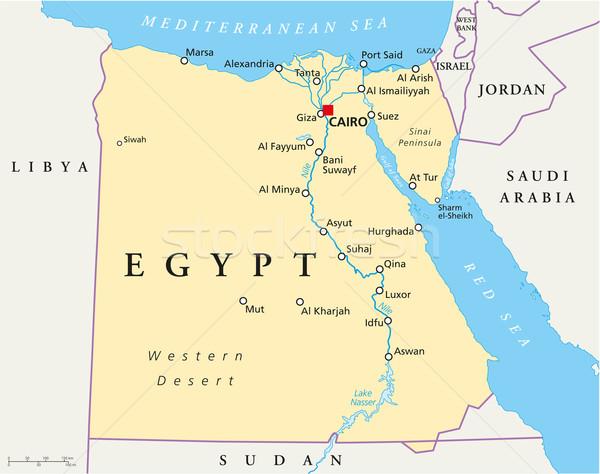 Map Of Egypt Stock photo © PeterHermesFurian