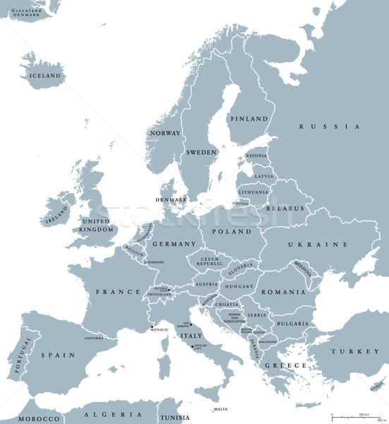 Europe Countries Political Map Stock photo © PeterHermesFurian