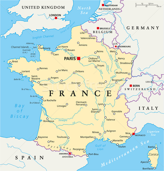 France Political Map Stock photo © PeterHermesFurian
